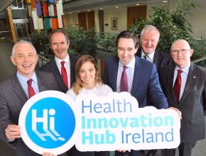 Repro Free Prof. John R. Higgins, Principal Investigator, Health Innovation Hub Ireland; Dave Shanahan, Chair of National Oversight Group, Health Innovation Hub Ireland, Nicola O'Riordan, UCC, Minister for Health Simon Harris TD, Dr. Colman Casey, Director Health Innovation Hub Ireland and John Murphy, Secretary General, Department of Jobs, Enterprise and Innovation pictured at the official launch of Health Innovation Hub Ireland (HIHI) in UCC, Cork. Ireland's first national Health Innovation Hub will directly improve treatment and care for patients. The Minister announced government funding, through the Department of Health and the Department of Jobs, Enterprise and Innovation in conjunction with Enterprise Ireland of €5 million for the establishment of Health Innovation Hub Ireland, which is led by University College Cork (UCC). Health Innovation Hub Ireland, a partnership of clinicians, academics, innovators and entrepreneurs from across Ireland will accelerate healthcare innovation and commercialisation, by addressing healthcare challenges and in doing so will create jobs and exports for the country Pic Daragh Mc Sweeney/Provision