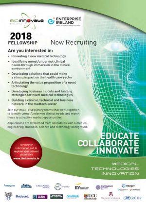 BioInnovate Fellowship 2018 Programme Now Recruiting